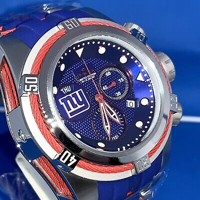 Invicta NFL N.Y. Giants 53mm Bolt Zeus LTD ED Chrono Watch. # 30246. Last One!!!