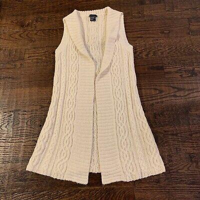 THEORY Alpaca sleeveless sailor collar long cardigan, Size S, $325 MSRP
