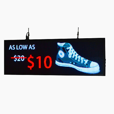 "39""x14"" programmable LED Sign Store Window  Display Images Thumb Drive Upload"