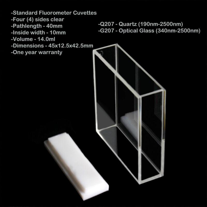 Azzota 40mm Pathlength Standard Fluorometer Cuvettes - 14ml Quartz