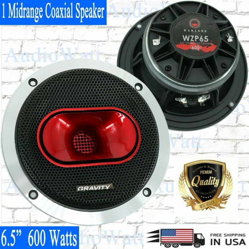 "1x Gravity WZP65 6.5"" 600 Watts 4-Ohm Midrange Coaxial Loud Speakers Car Audio"