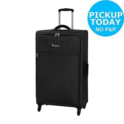 IT Luggage The LITE Large 4 Wheel Suitcase - Black.