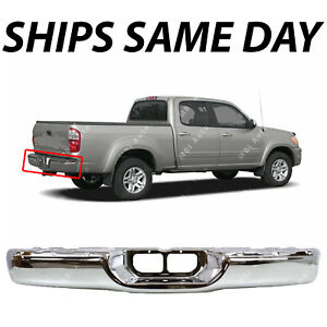 NEW Chrome - Steel Rear Step Bumper for 2000-2006 Toyota Tundra Pickup Truck