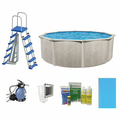"""Phoenix 18' x 52"""" Blade Frame Above Ground Swimming Pool with Pump & Ladder Kit"""