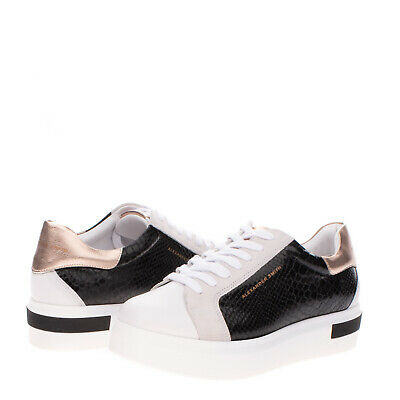 RRP€175 ALEXANDER SMITH Sneakers EU 36 UK 3 US 6 Snakeskin Pattern Made in Italy