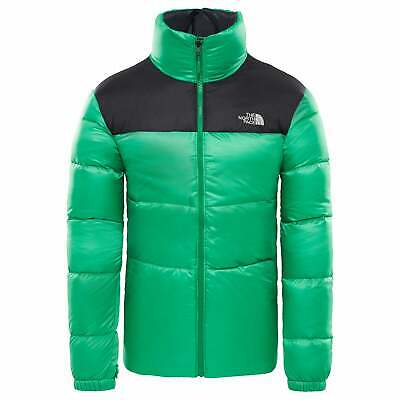 The North Face Nuptse Iii Mens Jacket Down - Primary Green Tnf Black All Sizes