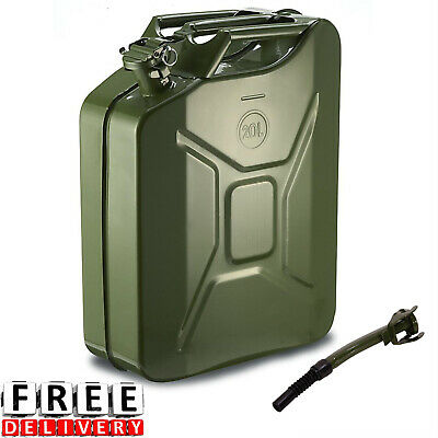 Fuel Gas Tank 20 Liter 5 Gallon Gasoline Steel Diesel Can Emergency Container