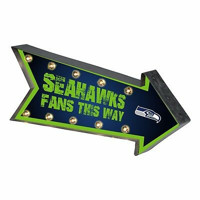 - Seattle Seahawks Arrow Marquee Sign - Light Up - Room Bar Decor NEW 18