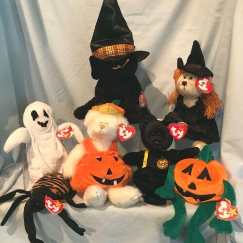 Halloween Beanies and Merlin  Hagatha  CarverTy  7/Lot 1996 - 2005   $32.99