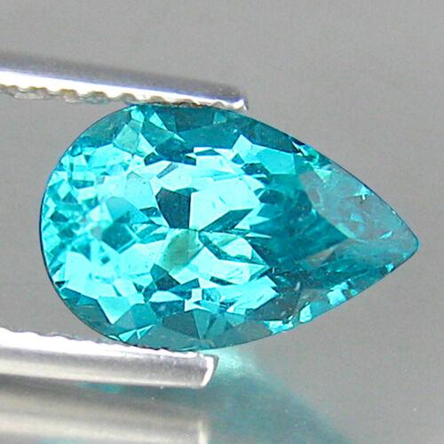 2.57 Ct UNHEATED ! NEON GREENISH BLUE APATITE GEMSTONE FROM BRAZIL