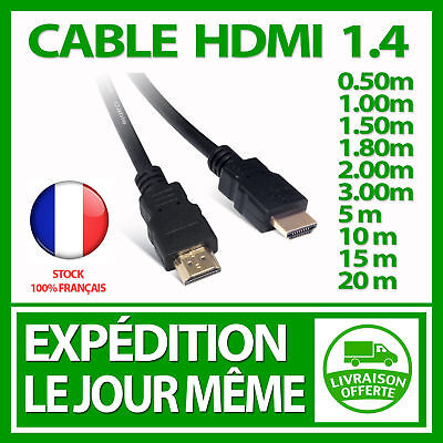 HDMI CABLE 1.4 FULL HD TV BLU RAY PLAYSTATION XBOX 360 1080P 4K GOLD HIGH SPEED ()