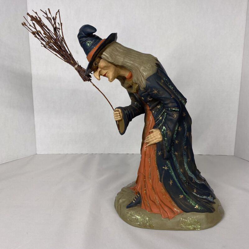 Marolin Paper Mache Old World Witch Figure Made in Germany