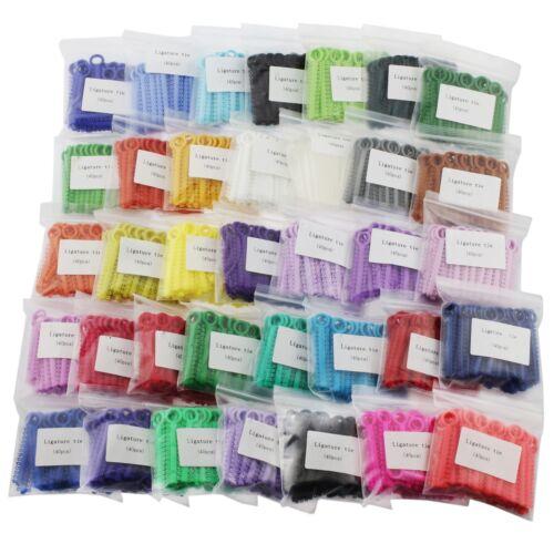 1040pcs / Bag Dental Orthodontic Ligature Ties Elastic Rubber Bands 36 Colors