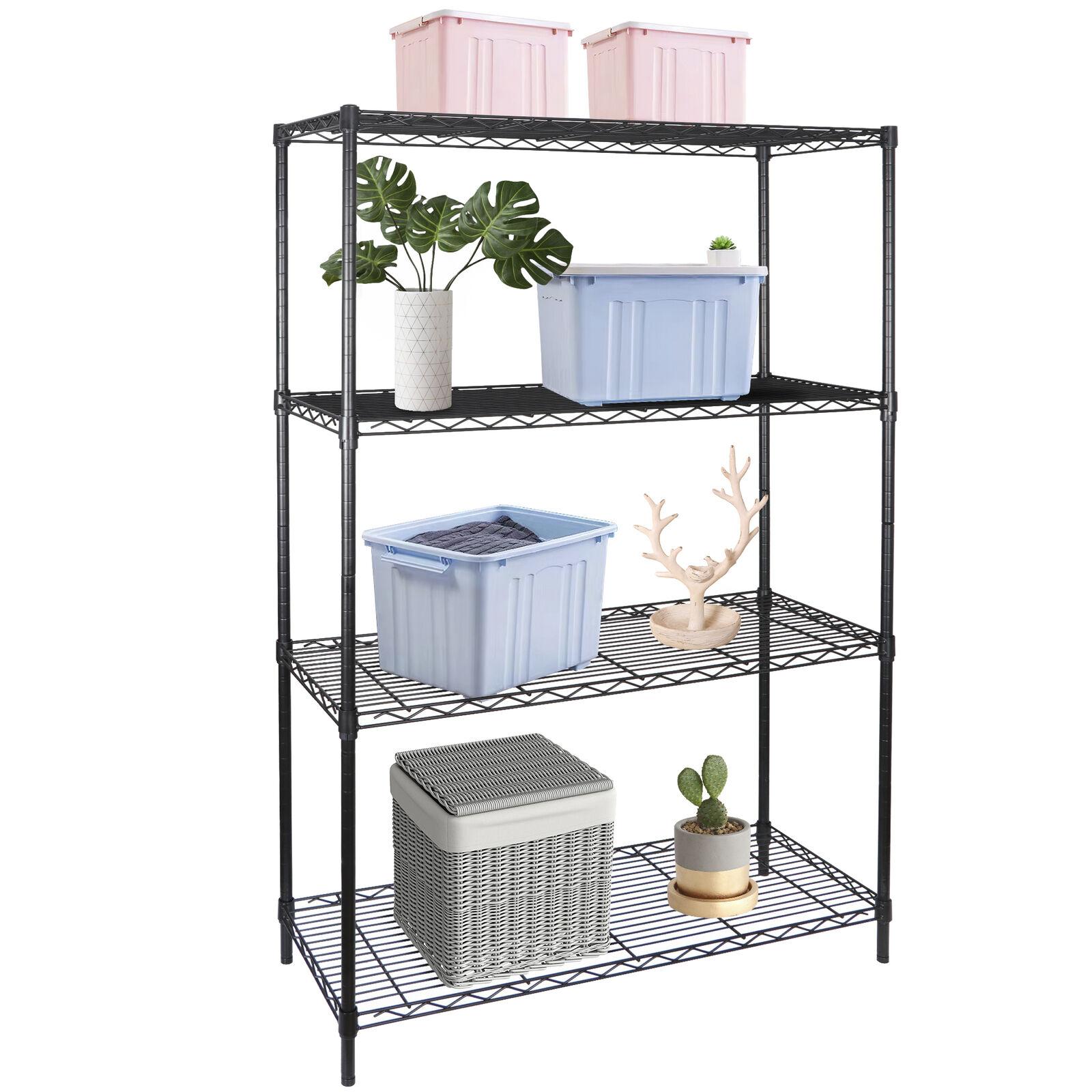 4-Tier Heavy Duty Storage Shelves Garage Shelf Metal Shelving Organization Home & Garden