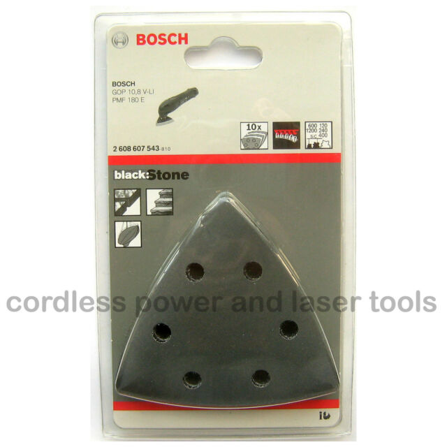 10 Bosch Delta Sanding Sheets Mixed Grit STONE PDA PMF GOP Multi Tool 2608607543