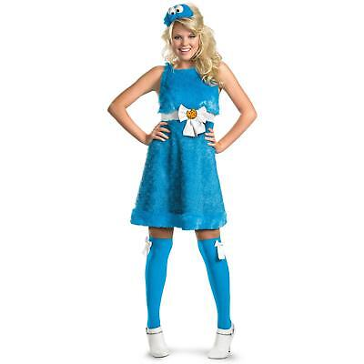 Womens Monster Costumes (Cookie Monster Sesame Street Womens Adult Costume | Disguise)