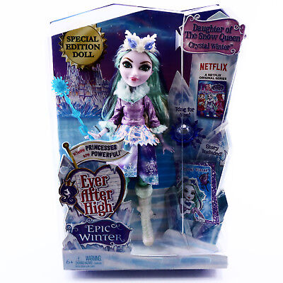 Ever After High Crystal Winter Doll Epic Winter EAH Toys For Girls Age 6 7 8 9