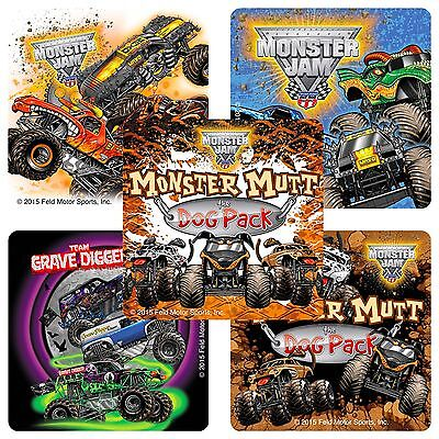 Monster Jam Stickers x 15 - Birthday Favours - Gravedigger - Trucks Party Trios](Grave Digger Monster Truck Party Supplies)