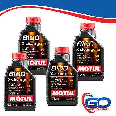 OLIO MOTORE MOTUL 8100 X-clean 5W40 dexos2 C3 4 LITRI 4lt 100% SINTETICO - GEN 2