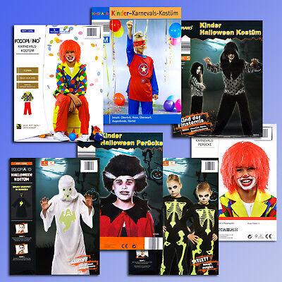 Kinder Faschings Karneval Halloween Kostüm Perücke Fasching Clown Geist - Geist Halloween Clown Kostüm