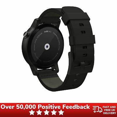 Motorola Moto 360 2nd Generation Smartwatch 42mm, Black Leather Strap