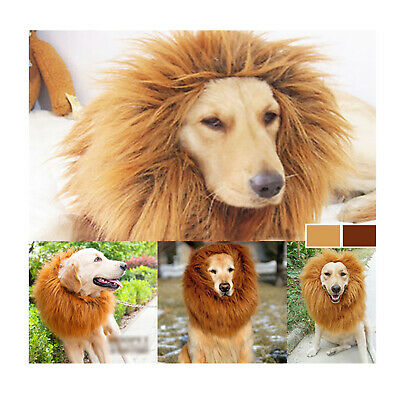 Pet Lion Costume Fancy Dress Up Outfit Halloween Clothes Mane Wig for Large Dogs - Dog Lion Outfit