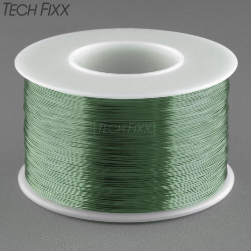 Magnet Wire 34 Gauge AWG Enameled Copper 3930 Feet Coil Winding 155C Essex Green