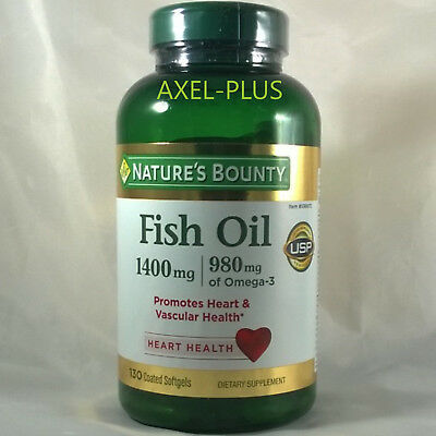 Natures Bounty  Fish Oil 1400Mg  980Mg Of Omega 3  130 Softgels