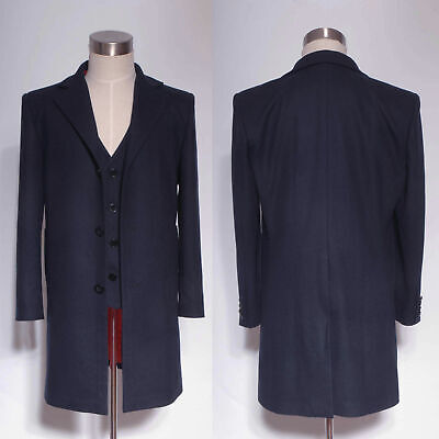 Doctor Who 12th Dr. Dark Blue Frock Coat + Vest Set Cosplay Costume Halloween (Doctor Who Cosplay)