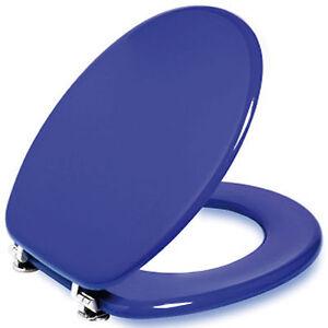Sedile wc tavoletta copriwater copri bagno tavoletta tazza vaso universale blu ebay - Tavoletta bagno ...