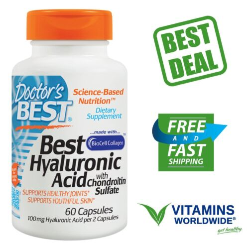 Doctor's Best Hyaluronic Acid with Chondroitin Sulfate, Non-
