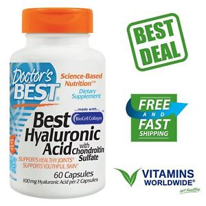 Hyaluronic Acid with Chondroitin Sulfate Doctor's Best BioCell Collagen 60 Caps