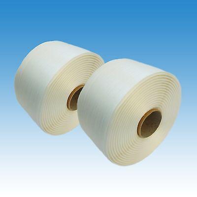 2 x HD Textil Umreifungsband 19 mm, 400 m, 975 kg, Umreifung Kraftband Polyester