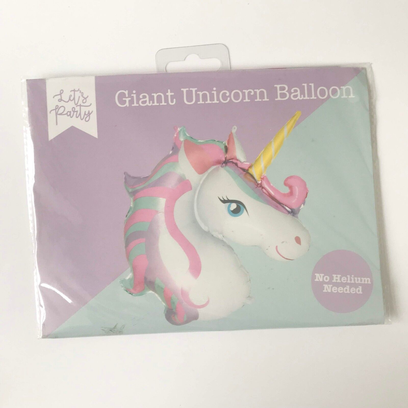 No Helium Required Giant Rainbow Foil Balloon