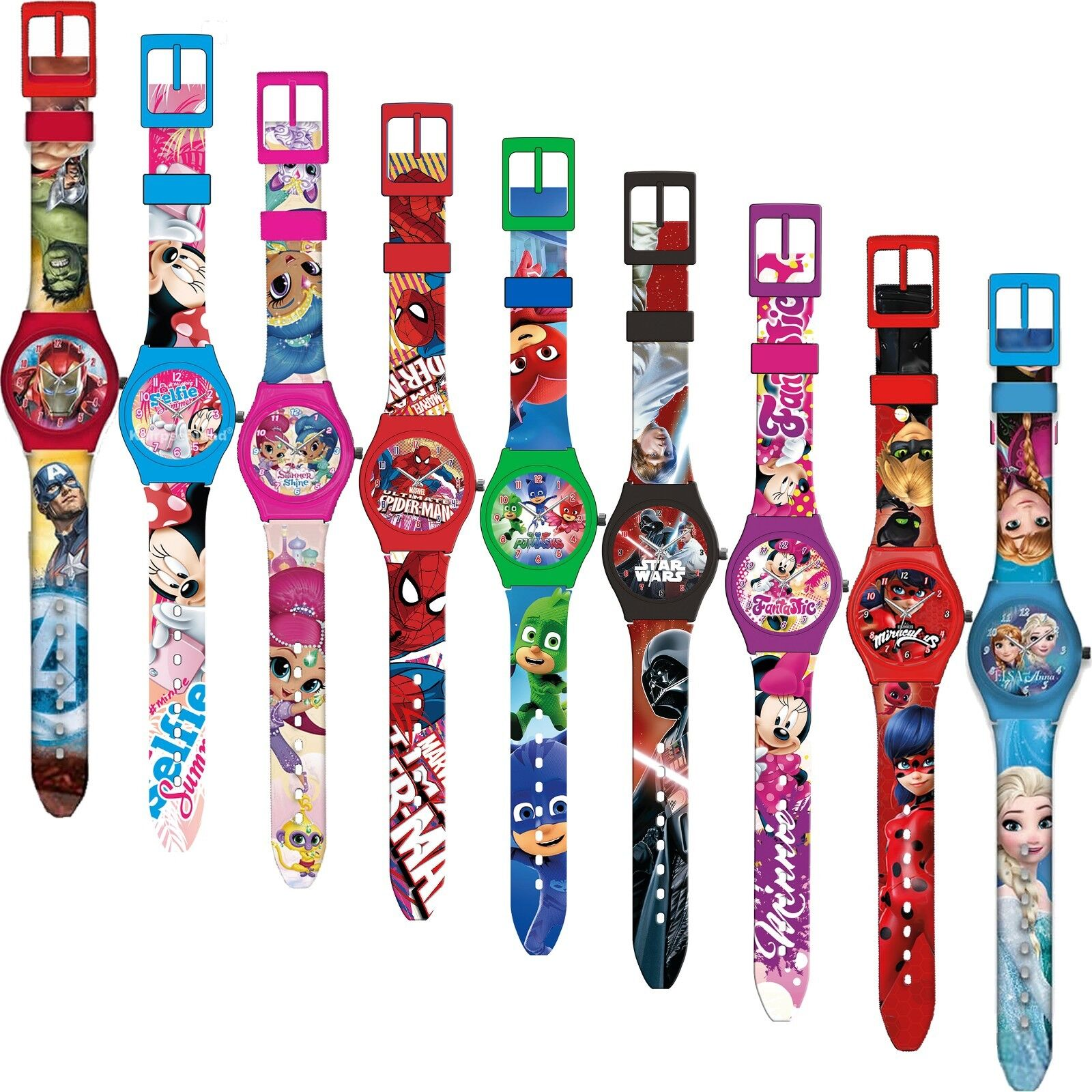 Armbanduhr Kinderuhr Frozen Uhr Armband Analog Disney Kinder Silikon Lernuhr