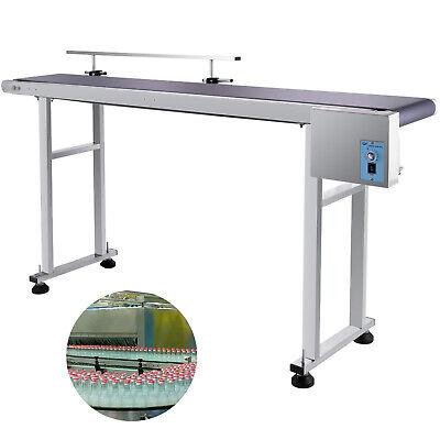 59x 7.8 Pvc Belt Conveyor Machine With Stainless Steel Single Guardrail