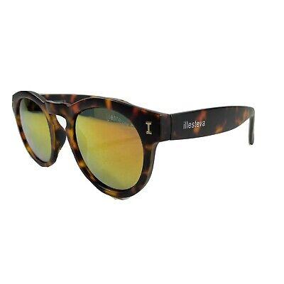 Illesteva Leonard II Womens Brown Tortoise Print Ring Mirrored Sunglasses