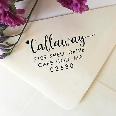 Family Return Address Stamp Personalized Address Stamp With Pretty Script