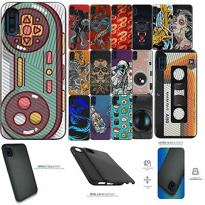 For [Samsung Galaxy A10e][EMBOSSED DUO SET10] Shock Dual Layer Case