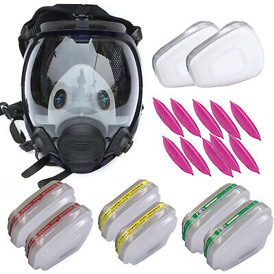 Respirator Full Face 15 In 17 In 1 Gas Mask Paint Chemicals Face Cover Useful