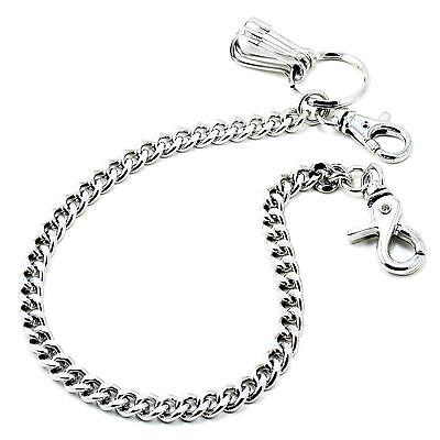 """DK Basic Strong Leash Biker Trucker Key Jean Wallet Chain (16"""") Silver CS154"""