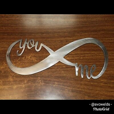 You And Me Infiniti Metal art sign BIRTHDAY ANNIVERSARY VALENTINES DAY GIFT](Birthdays And Signs)
