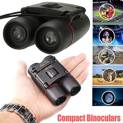 Day And Night Vision 30 x 60 ZOOM Mini Compact Foldable Binoculars UK Seller