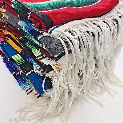 Fiesta Costume (ADULT MEXICAN PONCHO SERAPE SALTILLO COSTUME FIESTA ONE SIZE FITS ALL)