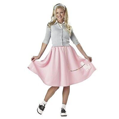 Hairspray Halloween Costume (Women's Teen 50's Grease Swing Hairspray Halloween Costume Pink Poodle Skirt)