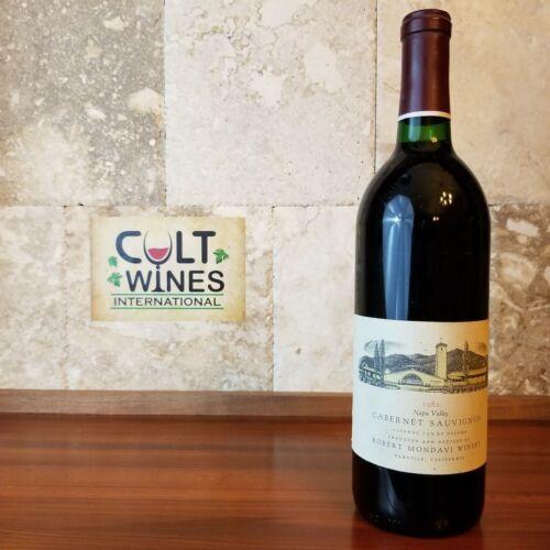 WS 90! 1982 Robert Mondavi Napa Valley Cabernet Sauvignon wine