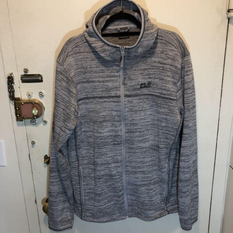 Jack Wolfskin Aquila Hooded Fleece Jacket Men XXL Alloy Nanuk 200 Better Sweater