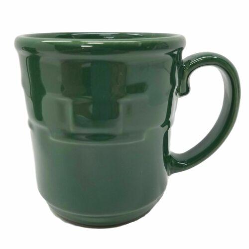 1 Longaberger Woven Traditions Pottery IVY GREEN Coffee Mug/Cup~USA~EUC
