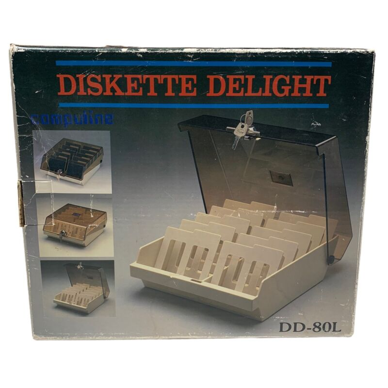 Vintage Dd-80L Diskette Delight 3.5 Floppy Disc Storage New Open Box