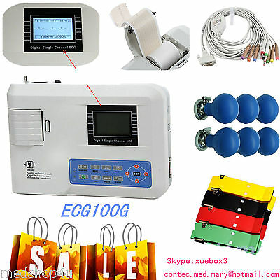 Contec Portable Ekg Monitor Ecg Machine Electrocardiograph Free Printer Ecg100g